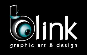 Λογότυπο λευκό Blink Graphic Art & Design
